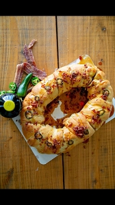 Cajun Market's Boudin King Cake - Overnight Shipping Suggested -