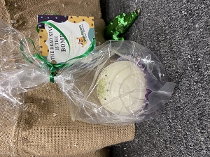 White Chocolate King Cake Flavored Cocoa Bomb